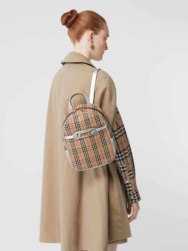 The 1983 Check Link Backpack in Silver - Women | Burberry - cell image 2