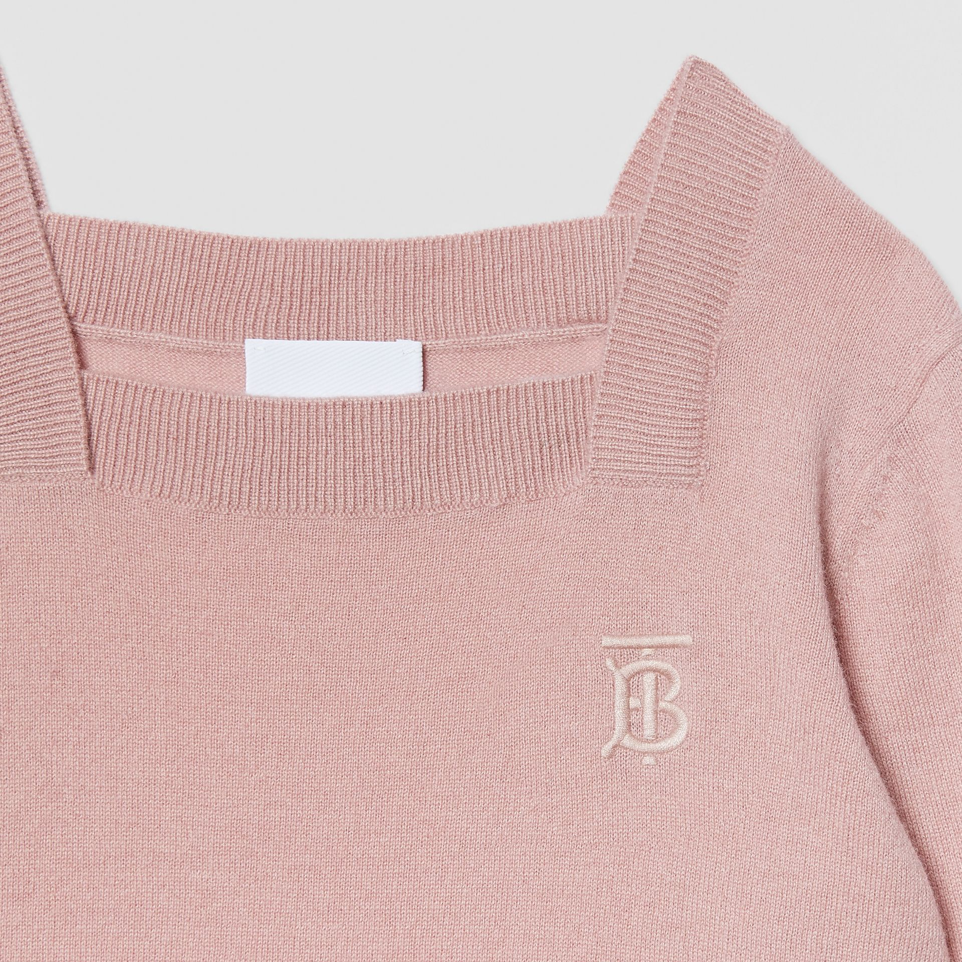 Monogram Motif Cashmere Sweater in Lavender Pink | Burberry United Kingdom - gallery image 4