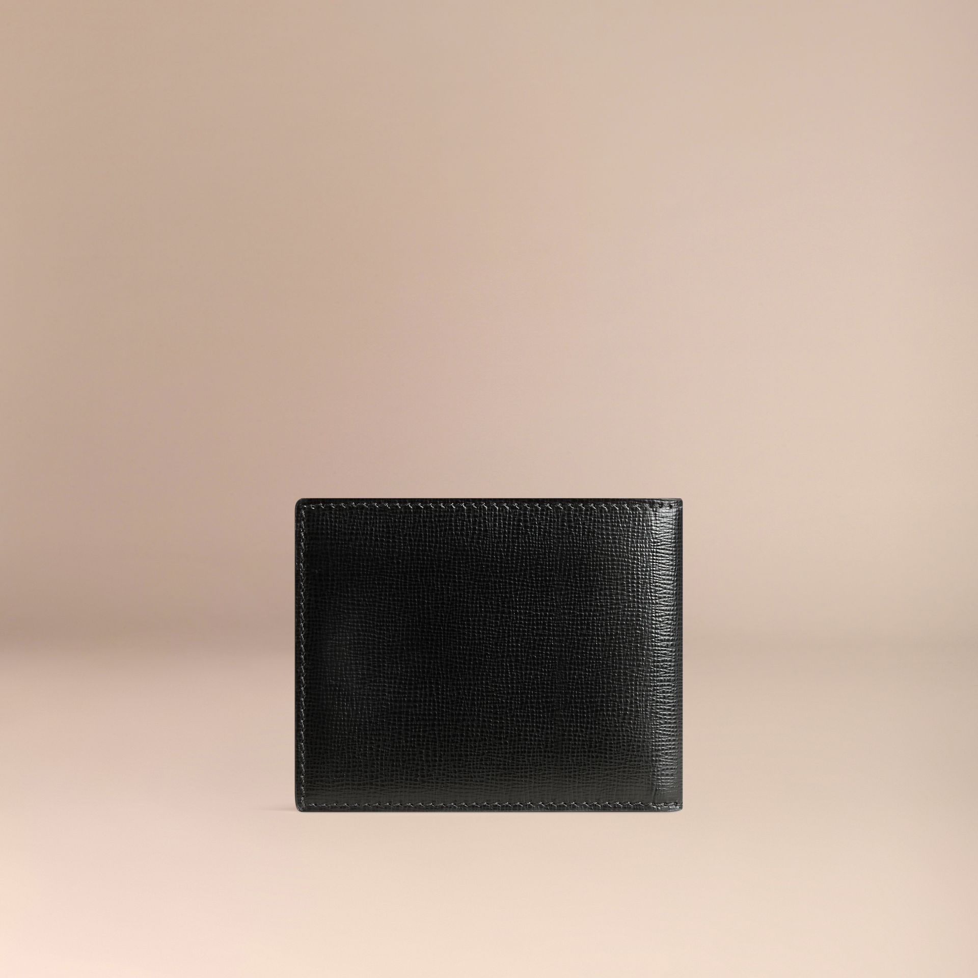 London Leather ID Wallet in Black - Men | Burberry Canada - gallery image 3
