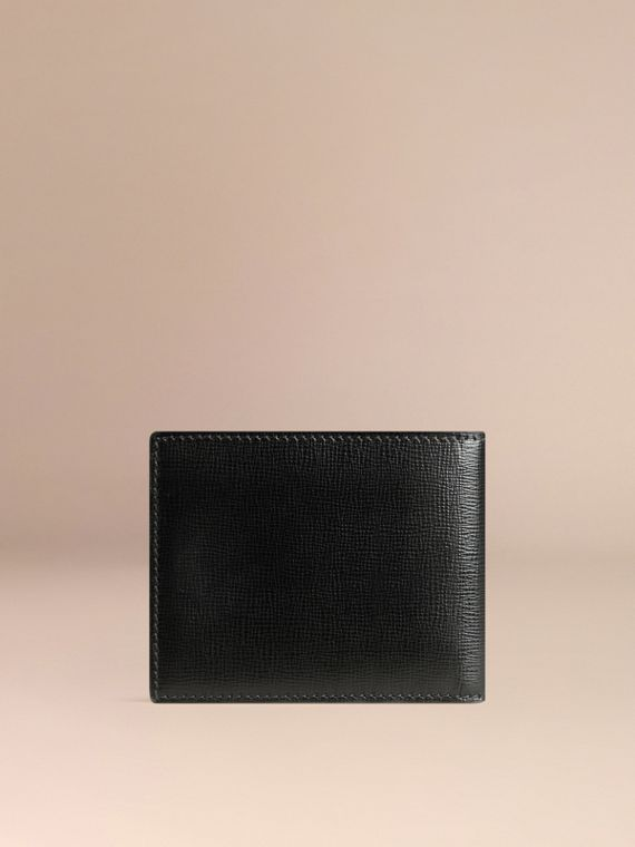 London Leather ID Wallet in Black - Men | Burberry Canada - cell image 2