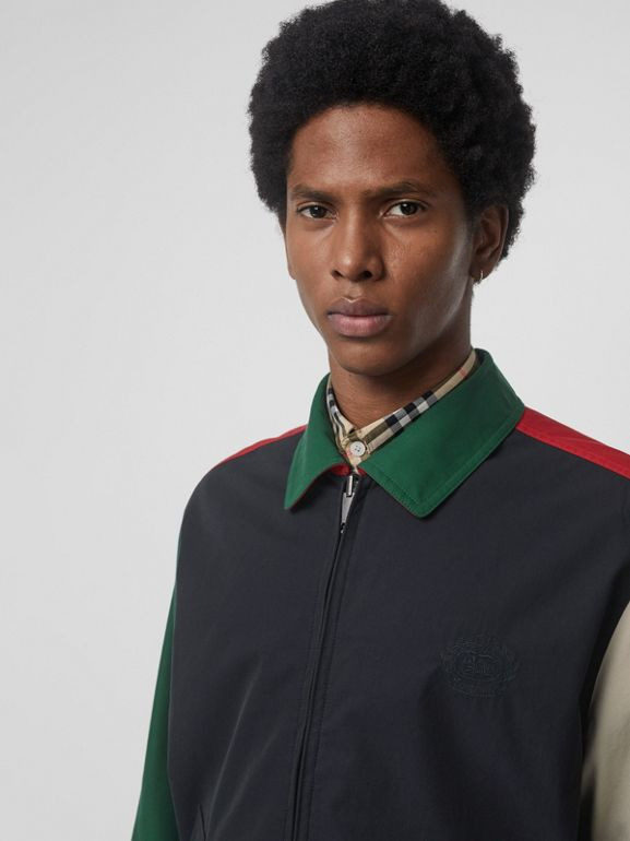 Reversible Vintage Check Harrington Jacket in Midnight - Men | Burberry - cell image 1