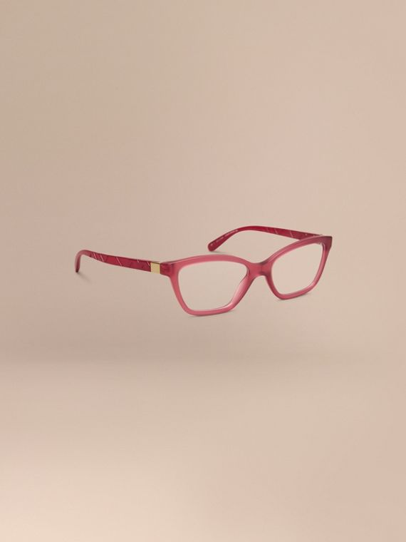 Check Detail Cat-eye Optical Frames Red