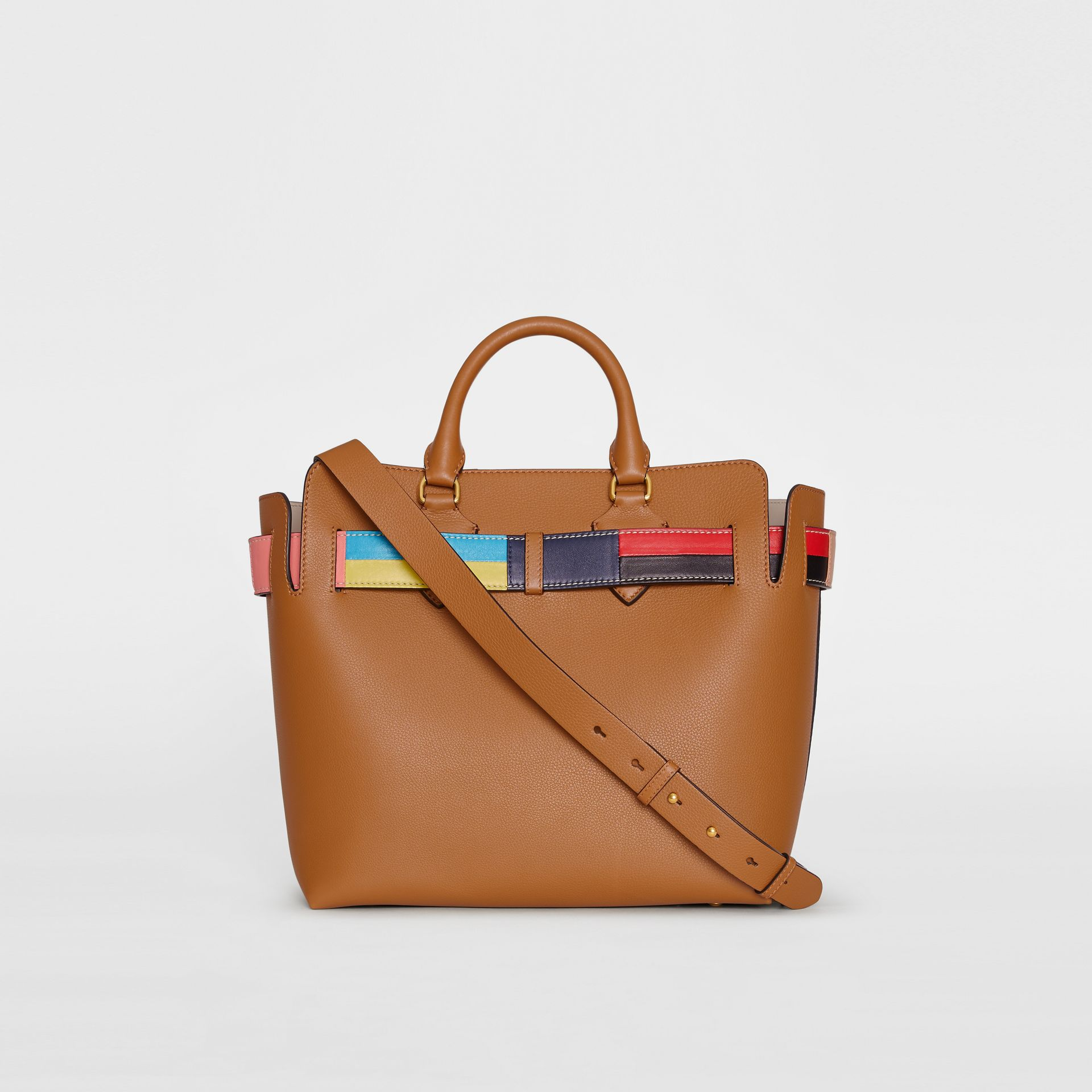 The Medium Leather Colour Block Detail Belt Bag in Cognac - Women | Burberry United States - gallery image 7