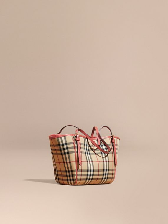 The Mini Canter In Horseferry Check Honey/antique Rose