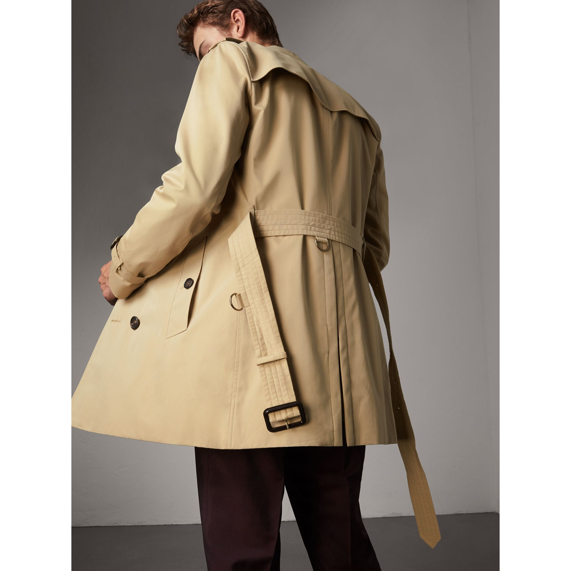 the sandringham mid length trench coat in honey men burberry united states. Black Bedroom Furniture Sets. Home Design Ideas