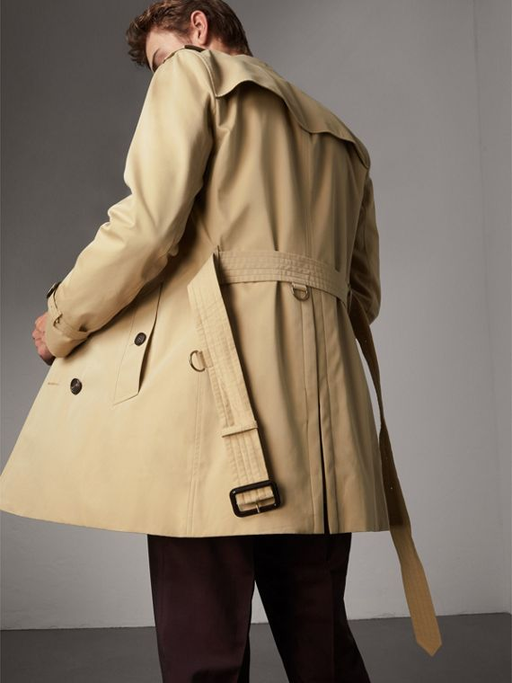 The Sandringham – Mid-length Heritage Trench Coat in Honey - Men | Burberry Canada - cell image 2
