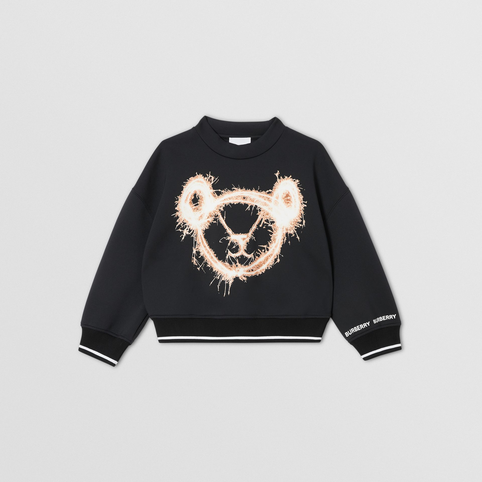 Sparkler Print Neoprene Sweatshirt in Black | Burberry - gallery image 0