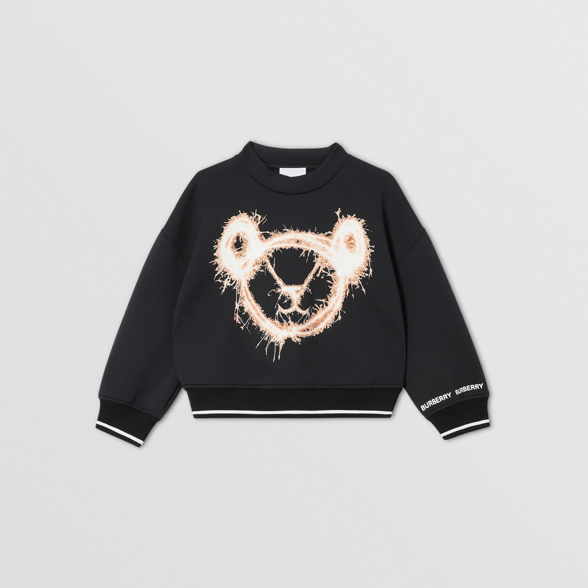 Sparkler Print Neoprene Sweatshirt in Black | Burberry Hong Kong S.A.R - gallery image 0