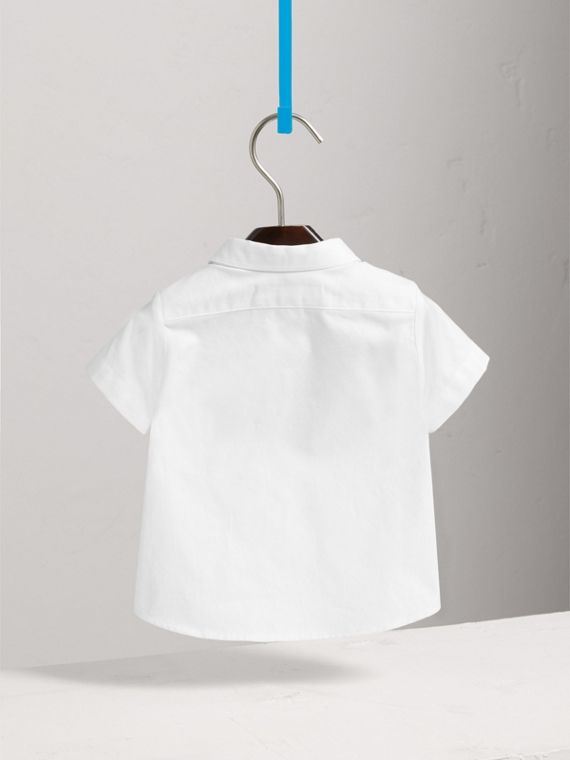 Cotton Oxford Shirt in White - Boy | Burberry - cell image 3