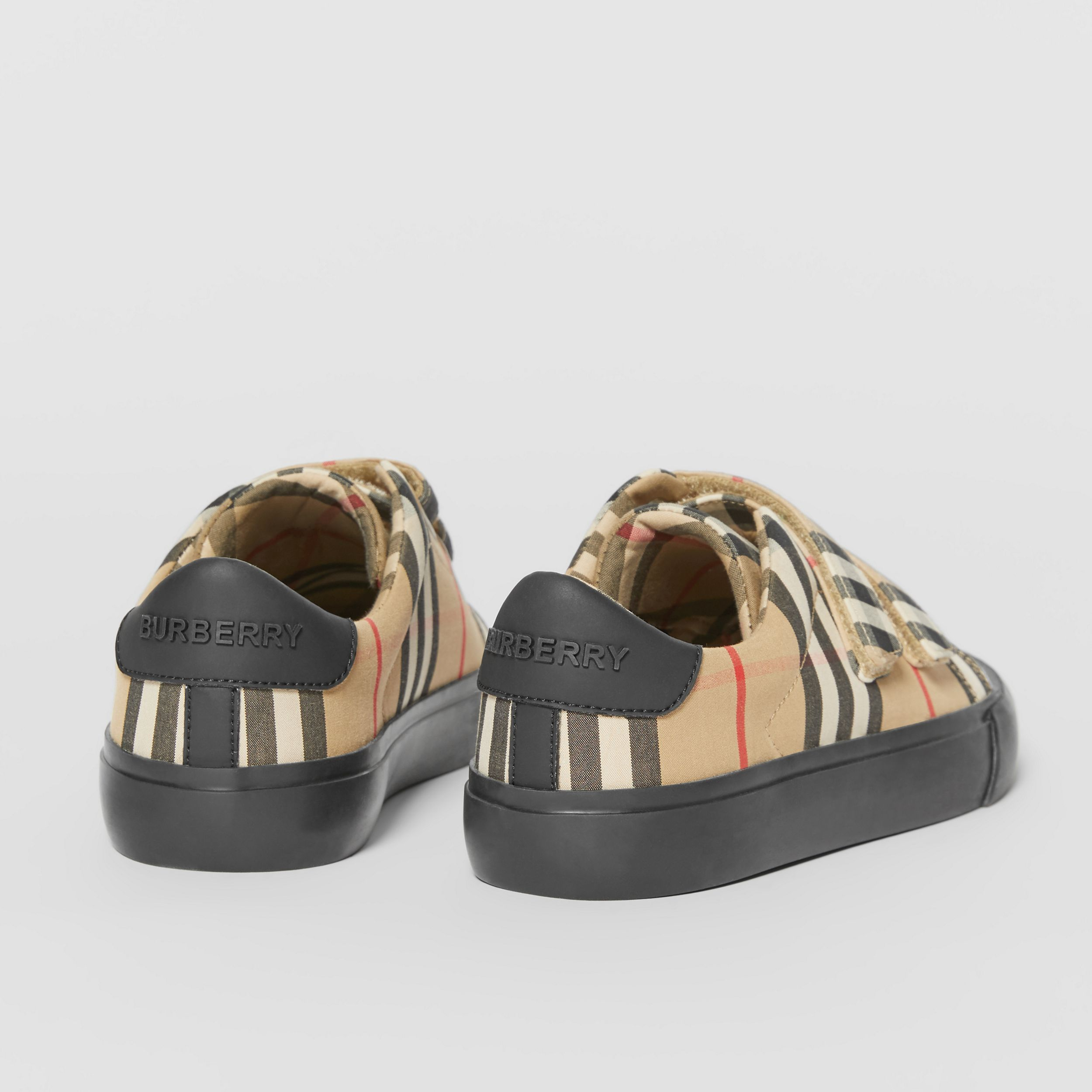 Vintage Check Cotton Sneakers in Archive Beige/black - Children | Burberry Singapore - 3