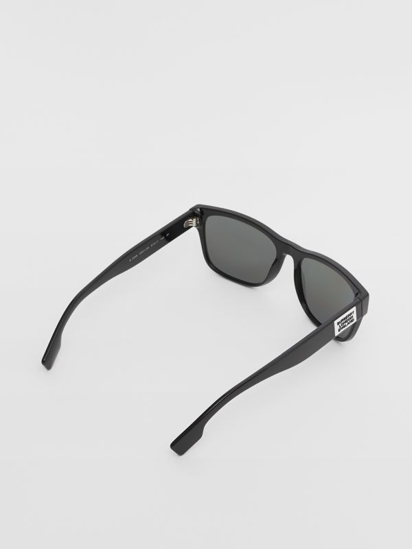 Logo Appliqué Square Frame Sunglasses in Black - Men | Burberry - cell image 3