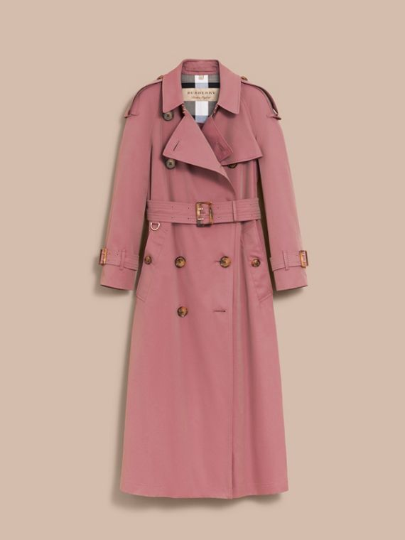 Tropical Gabardine Trench Coat in Antique Rose - Women | Burberry Canada - cell image 3