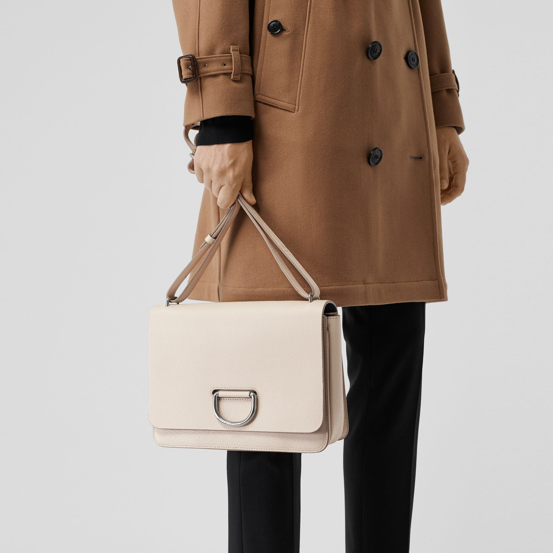 The Medium Leather D-ring Bag in Stone - Women | Burberry United Kingdom - gallery image 3