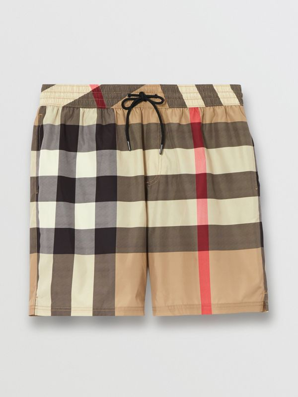 Check Drawcord Swim Shorts in Archive Beige - Men | Burberry United Kingdom - cell image 2
