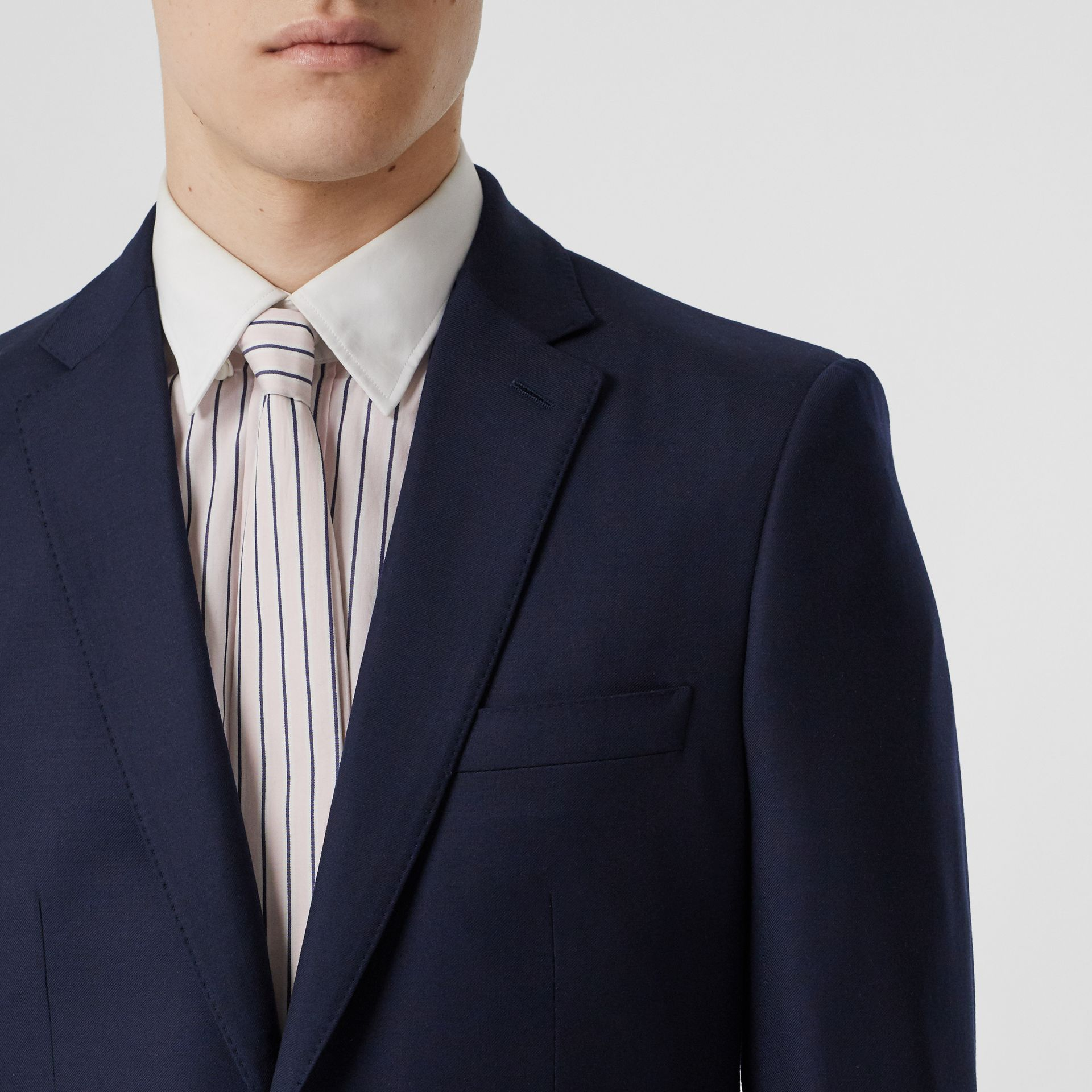 Classic Fit Wool Suit in Navy - Men | Burberry United Kingdom - gallery image 1