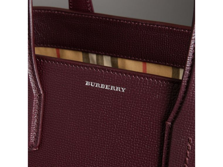 The Medium Banner in Leather and Vintage Check in Mahogany Red - Women | Burberry - cell image 1