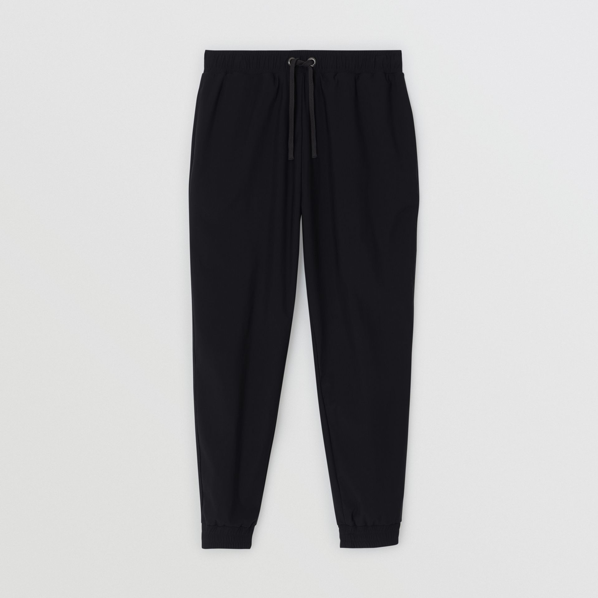 Logo Print Stretch Nylon Trackpants in Black - Men | Burberry Australia - gallery image 3