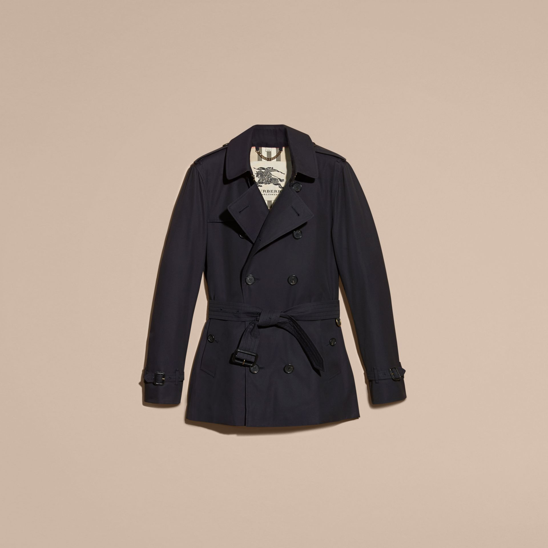 Navy The Sandringham – Short Heritage Trench Coat Navy - gallery image 4