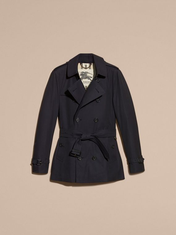 Navy The Sandringham – Short Heritage Trench Coat Navy - cell image 3