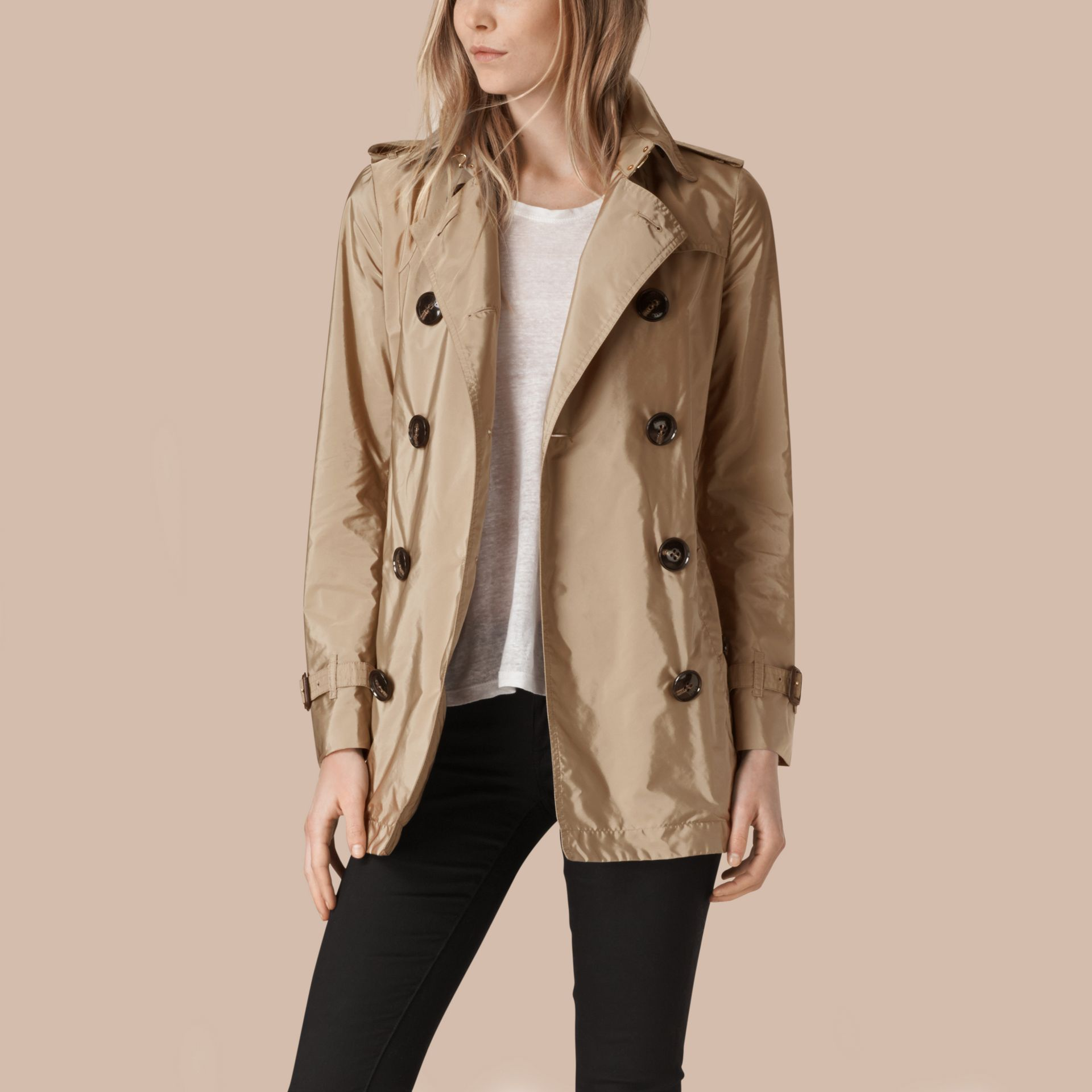 Lightweight Trench Coat Sisal - gallery image 4