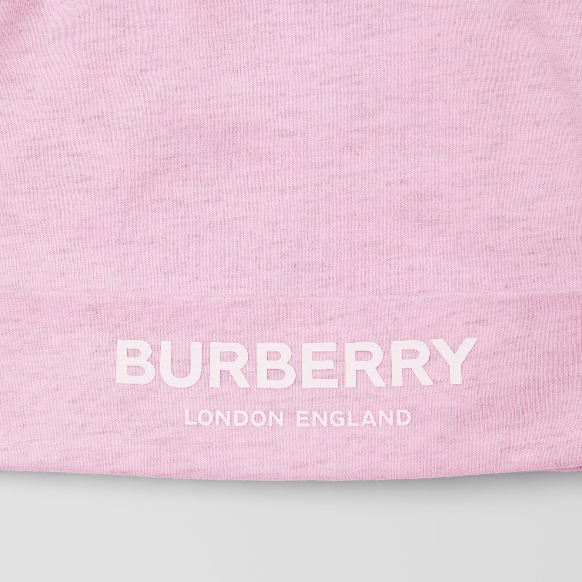 Logo Print Cotton Three-piece Baby Gift Set in Pale Pink - Children | Burberry - gallery image 10