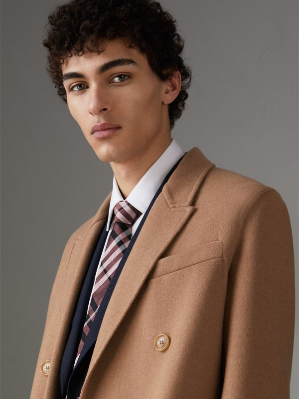 Modern Cut Check Silk Tie in Pink Apricot - Men | Burberry - cell image 2