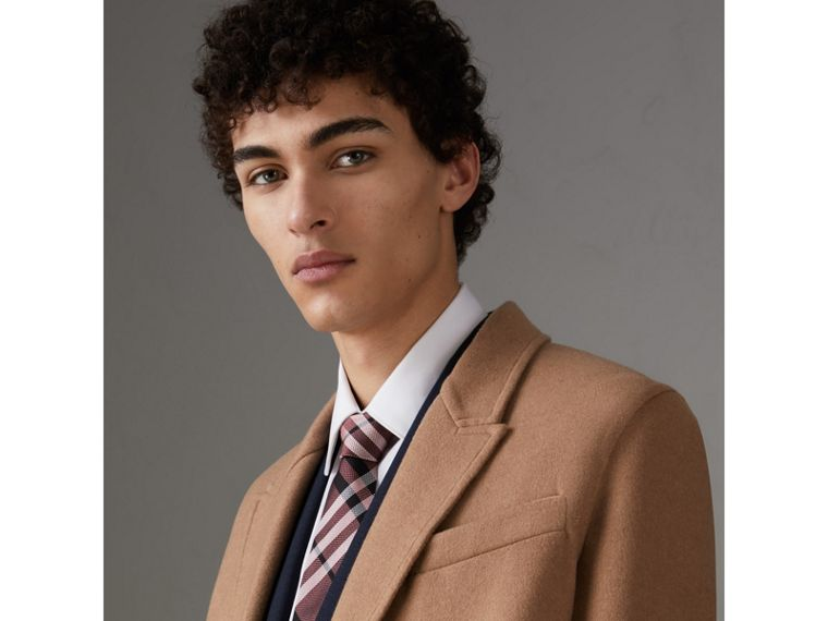 Modern Cut Check Silk Tie in Pink Apricot - Men | Burberry Hong Kong - cell image 2