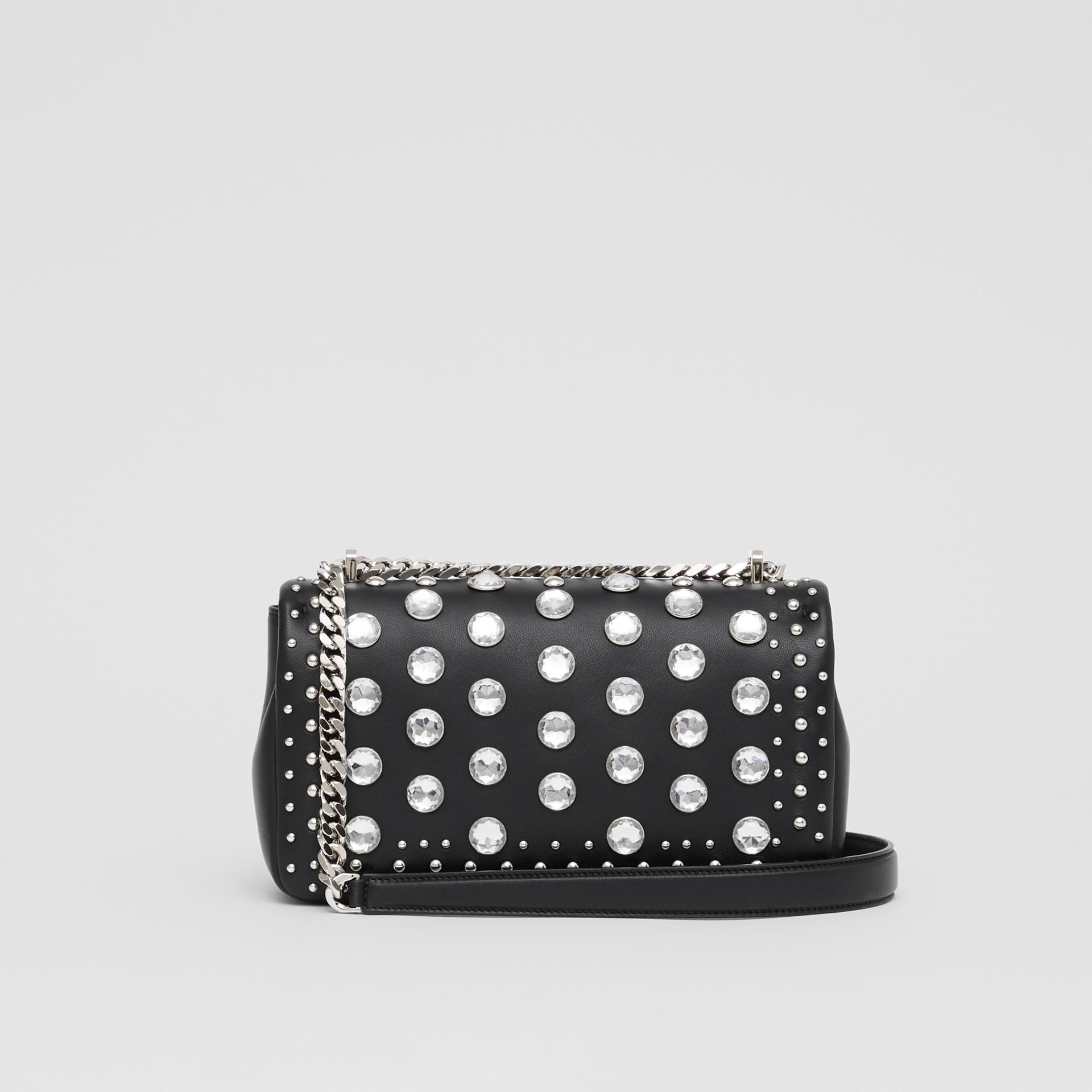 Small Embellished Lambskin Lola Bag in Black - Women | Burberry - gallery image 7