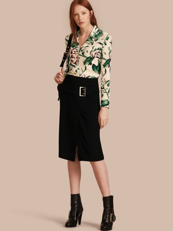 Peony Rose Print Silk Shirt - Women | Burberry