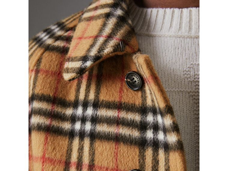 Vintage Check Alpaca Wool Car Coat in Antique Yellow - Men | Burberry - cell image 1