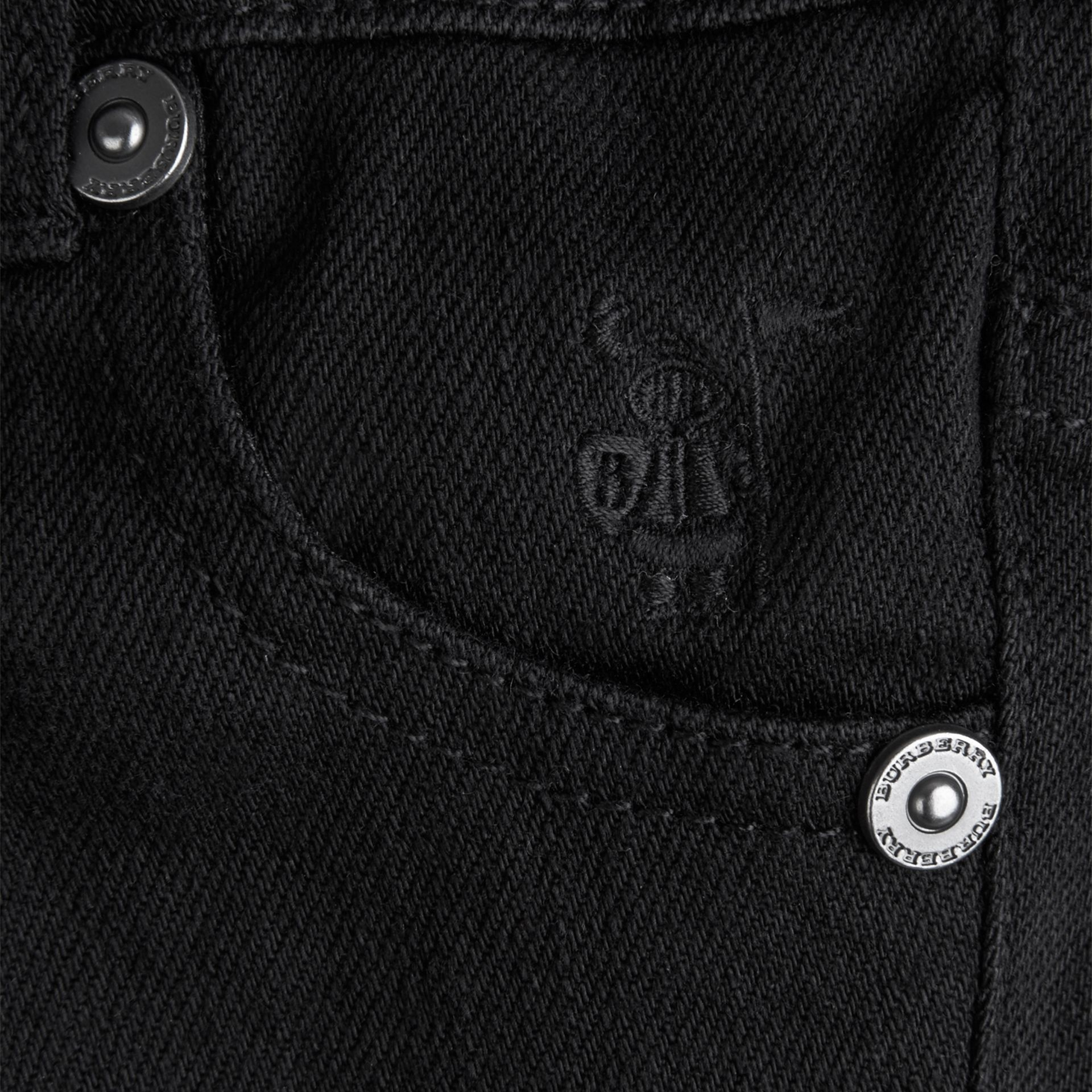 Black Stretch Denim Jeans - gallery image 2