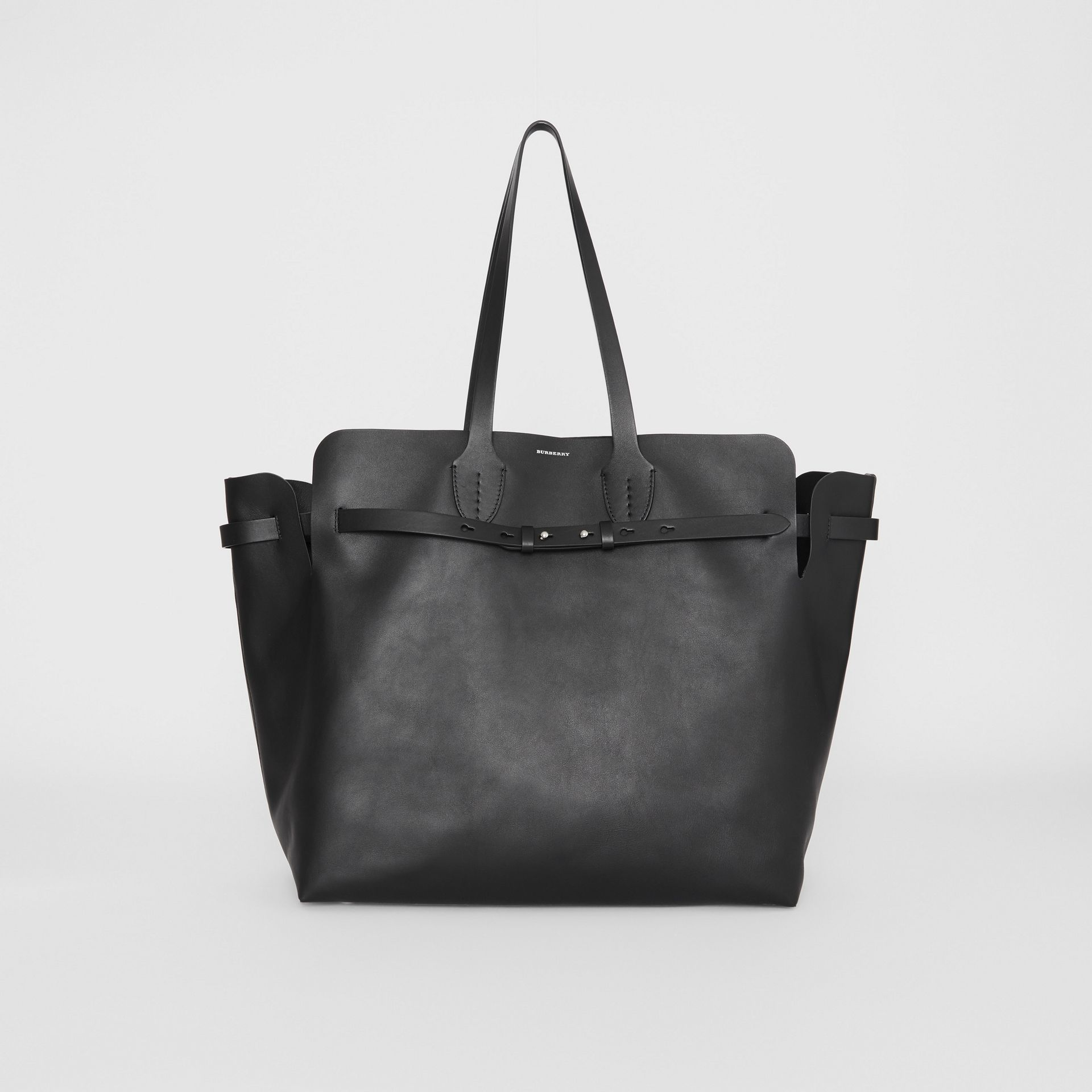 The Large Soft Leather Belt Bag in Black - Women | Burberry United States - gallery image 0