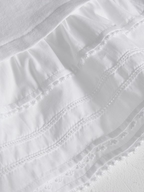 Lace Detail Cotton Dress in White | Burberry - cell image 1