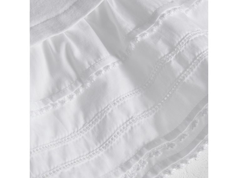 Lace Detail Cotton Dress in White | Burberry United Kingdom - cell image 1