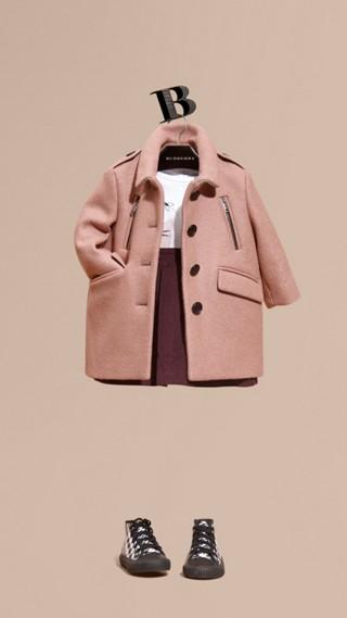 Manteau ajusté en laine