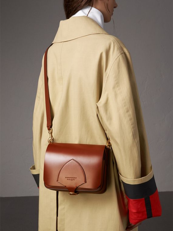 The Satchel squadrata in pelle a briglia (Marroncino) - Donna | Burberry - cell image 2