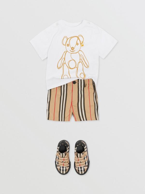 체인 프린트 코튼 티셔츠 (화이트) - 아동 | Burberry - cell image 3