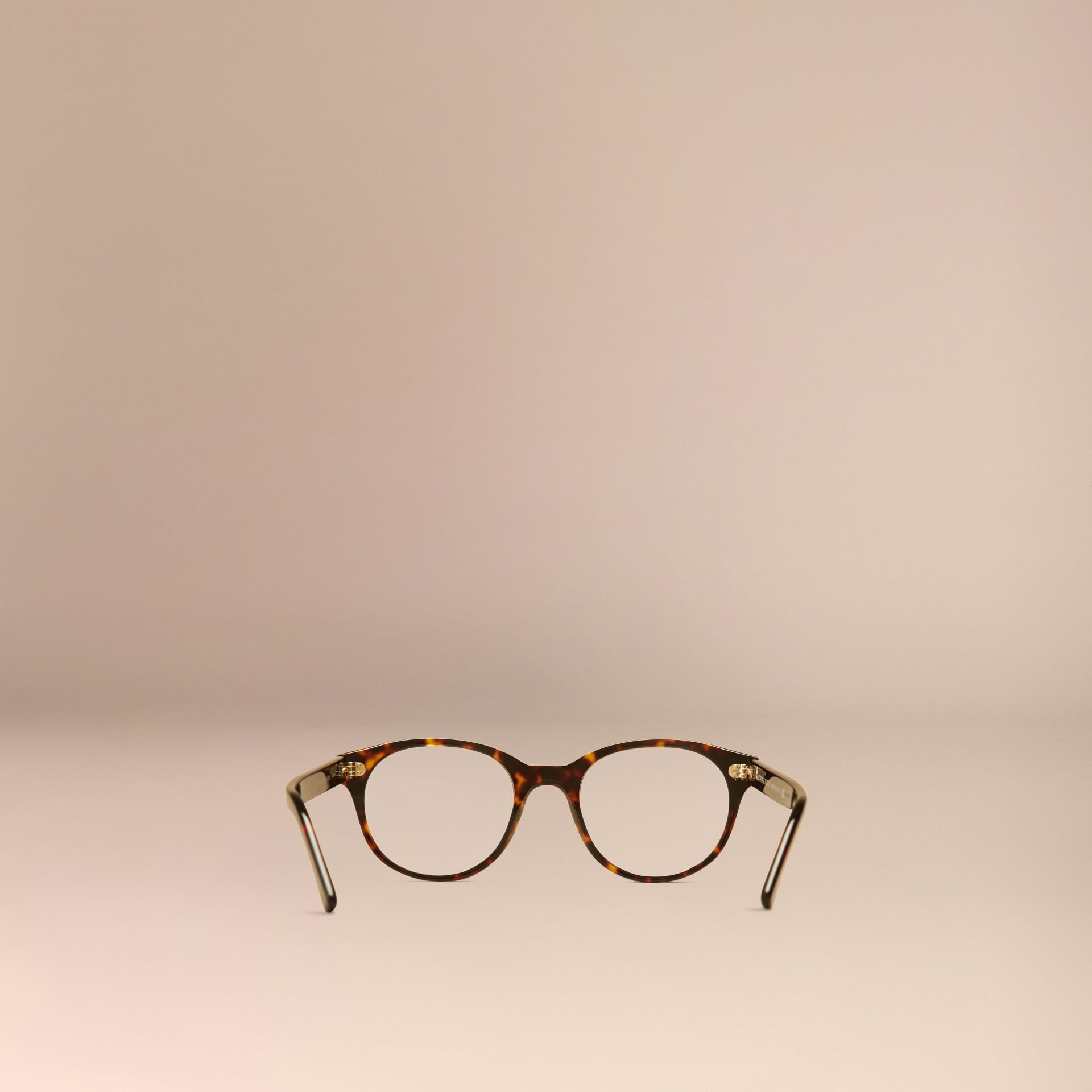 Round Optical Frames in Tortoise Shell - gallery image 4