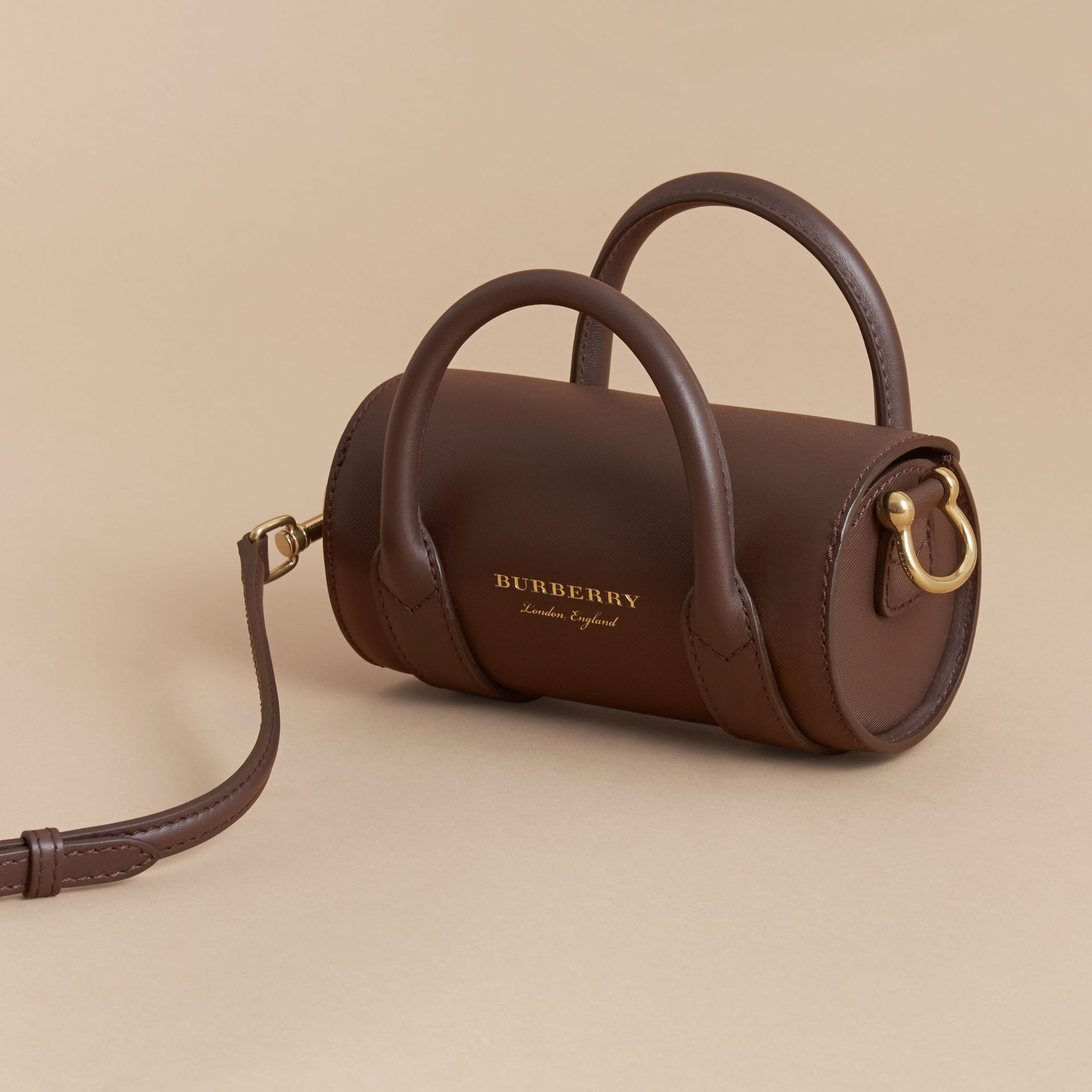 The Mini DK88 Barrel Bag in Dark Chocolate - Women | Burberry - gallery image 5