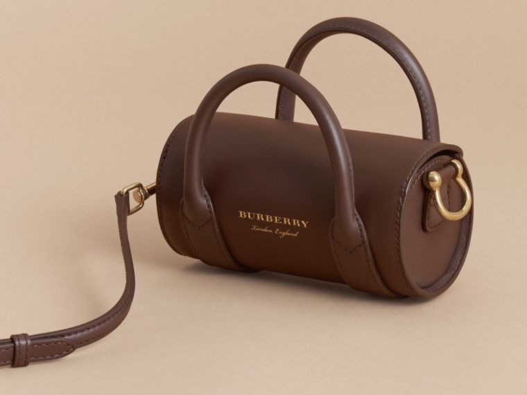 The Mini DK88 Barrel Bag in Dark Chocolate - Women | Burberry - cell image 4
