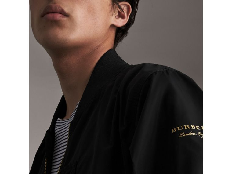 Shape-memory Taffeta Bomber Jacket - Men | Burberry - cell image 1