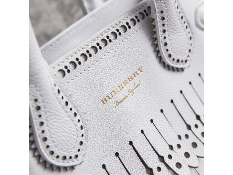 The Small Banner with Brogue Detail in Chalk White - Women | Burberry - cell image 1