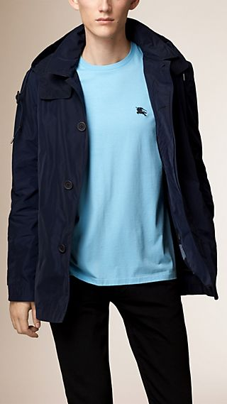 Technical Fabric Jacket with Detachable Warmer