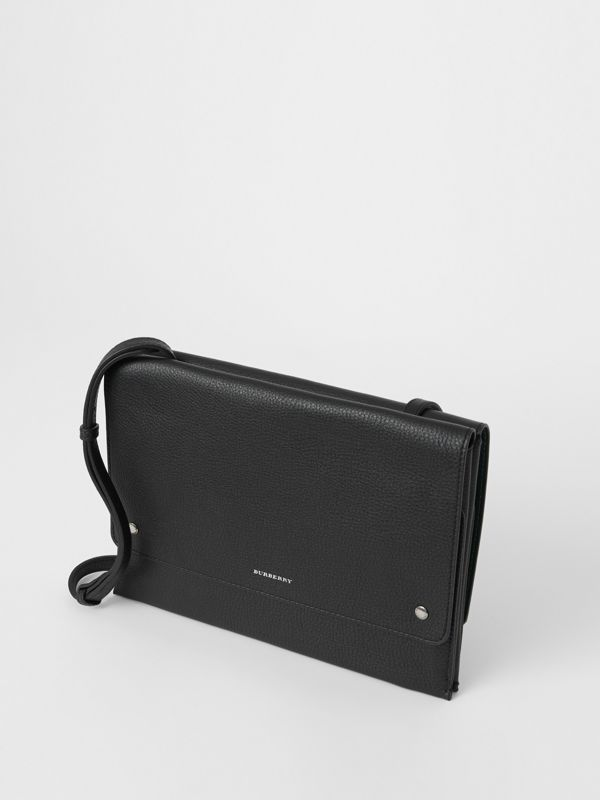Leather Envelope Crossbody Bag in Black - Women | Burberry United States - cell image 3