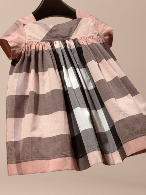 Antique pink Check Cotton Dress - cell image 3