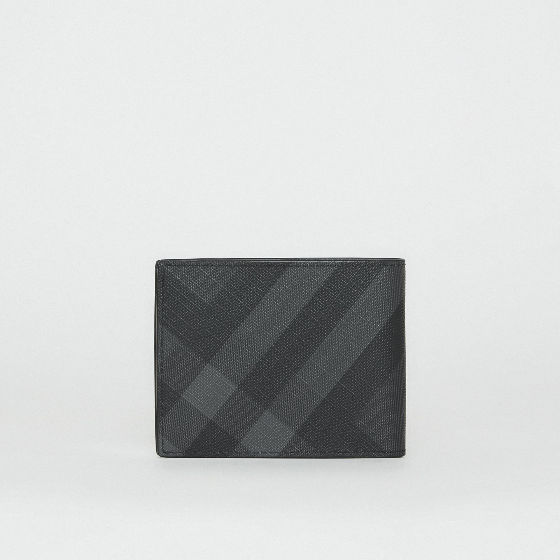 London Check Bifold Wallet in Charcoal/black - Men | Burberry United Kingdom - gallery image 5