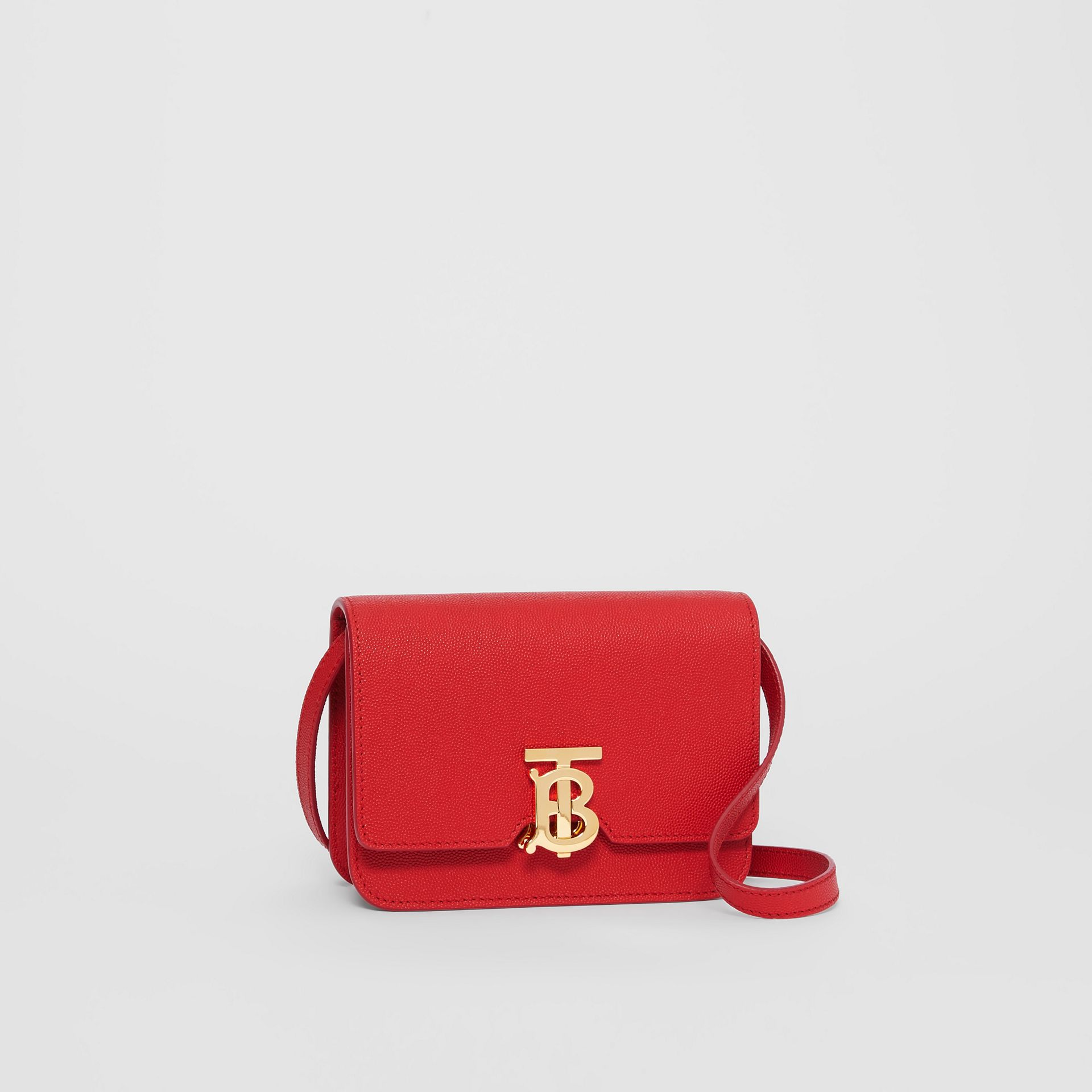 Mini Grainy Leather TB Bag in Bright Red - Women | Burberry Singapore - gallery image 4