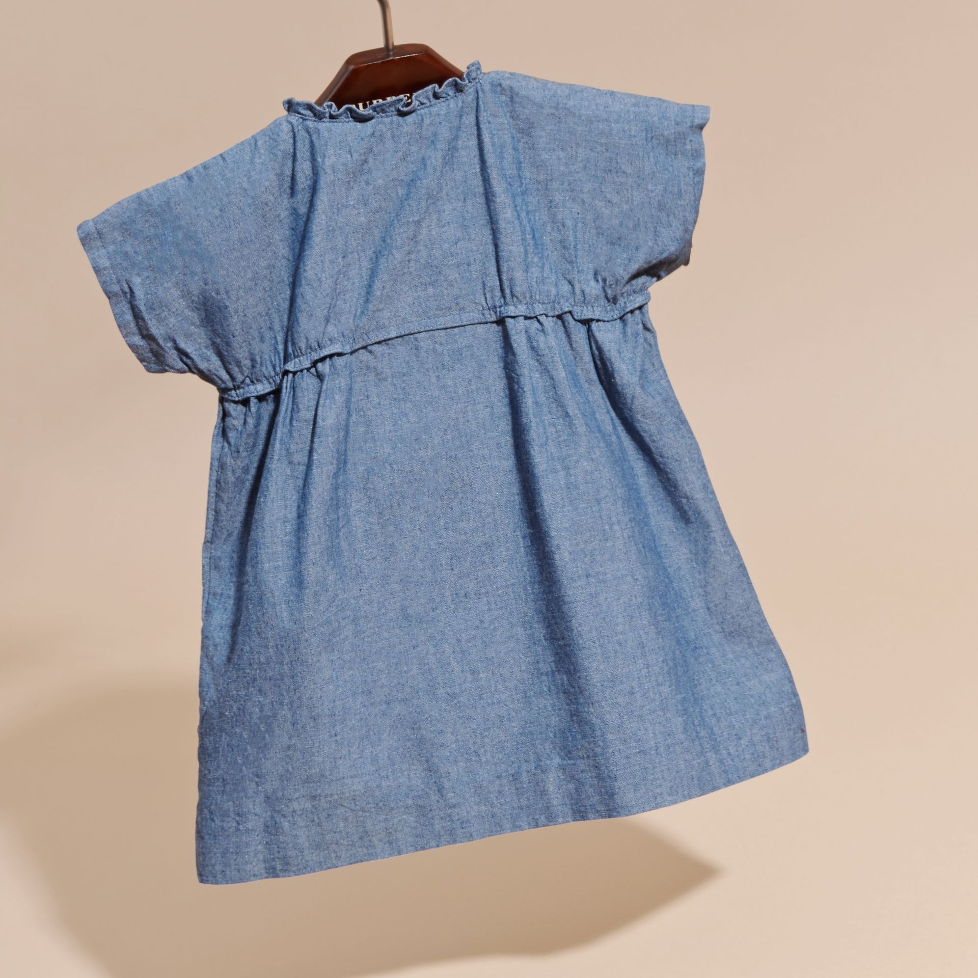 Ruffle Detail Cotton Chambray Dress and Bloomers - gallery image 4