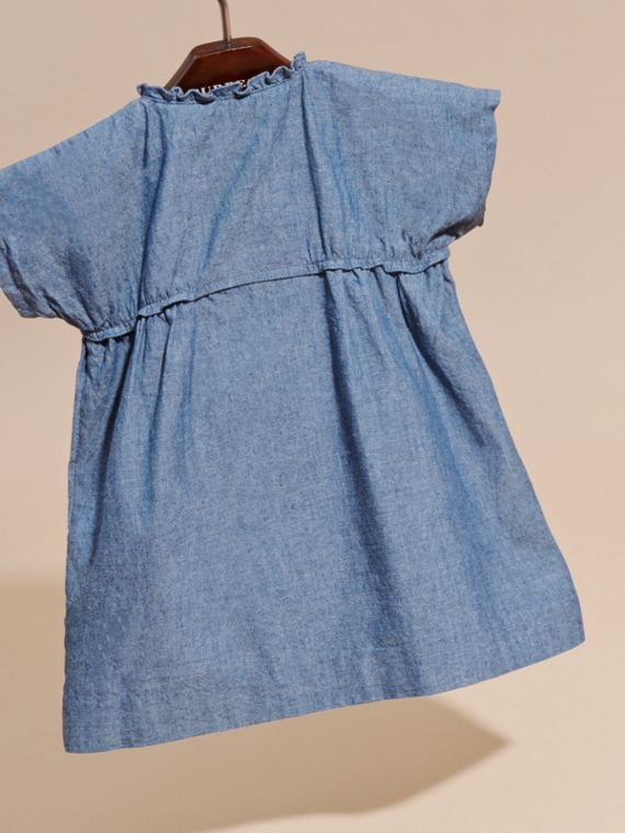 Ruffle Detail Cotton Chambray Dress and Bloomers - cell image 3