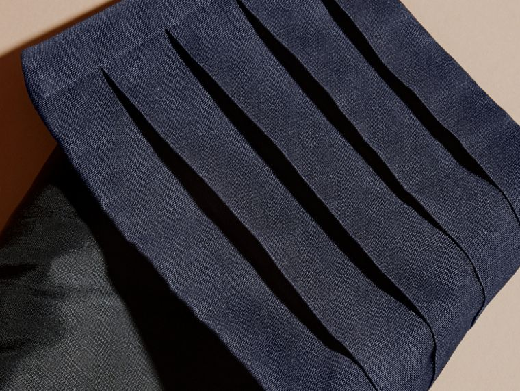Pleated Silk Cummerbund in Midnight - cell image 1